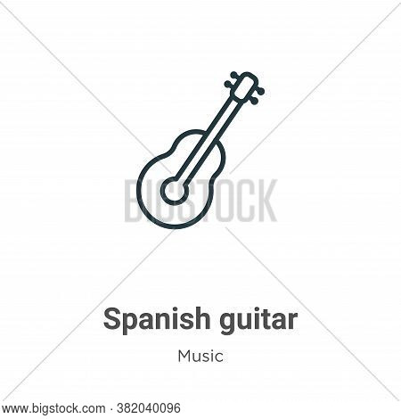 Spanish guitar icon isolated on white background from music collection. Spanish guitar icon trendy a