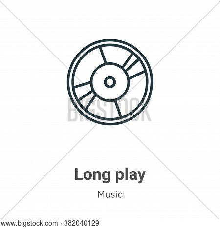 Long play icon isolated on white background from music collection. Long play icon trendy and modern
