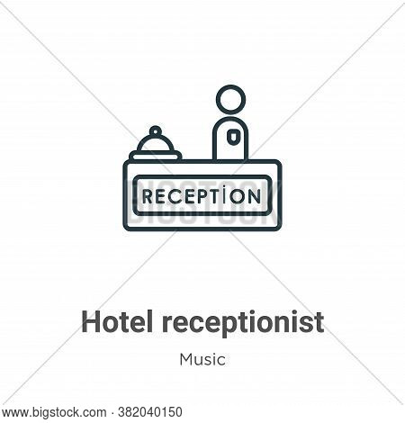 Hotel receptionist icon isolated on white background from music collection. Hotel receptionist icon