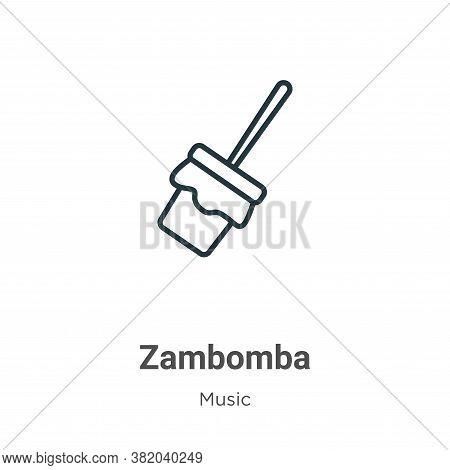 Zambomba icon isolated on white background from music and multimedia collection. Zambomba icon trend