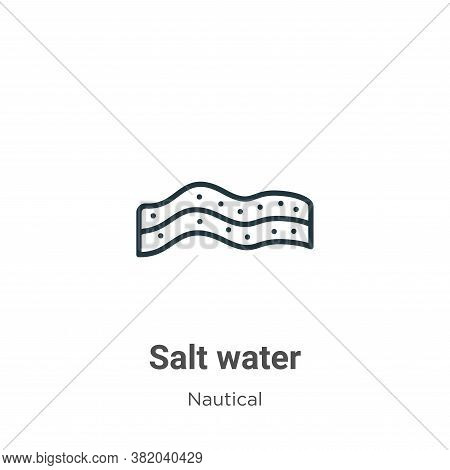 Salt water icon isolated on white background from nautical collection. Salt water icon trendy and mo
