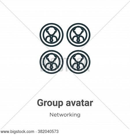 Group avatar icon isolated on white background from networking collection. Group avatar icon trendy