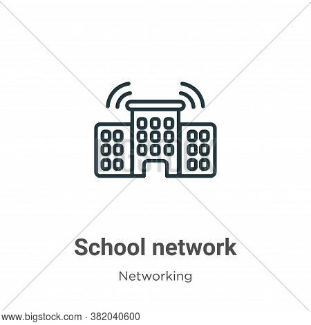 School network icon isolated on white background from networking collection. School network icon tre