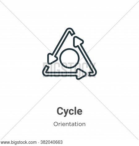 Cycle icon isolated on white background from orientation collection. Cycle icon trendy and modern Cy