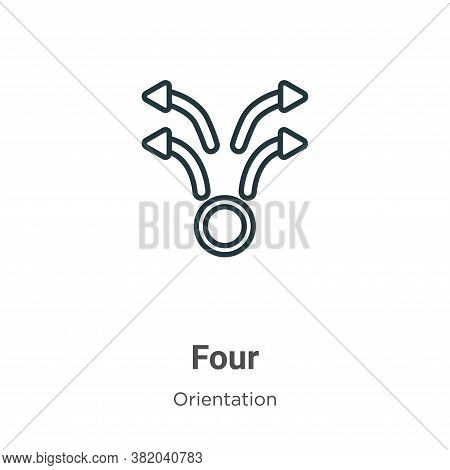 Four icon isolated on white background from orientation collection. Four icon trendy and modern Four