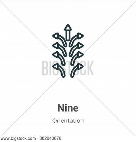 Nine icon isolated on white background from orientation collection. Nine icon trendy and modern Nine