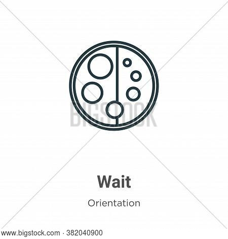 Wait icon isolated on white background from orientation collection. Wait icon trendy and modern Wait