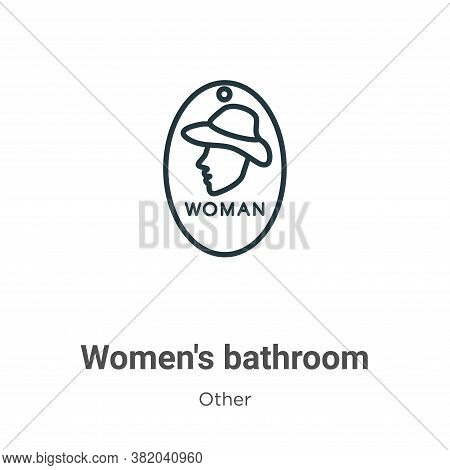 Womens bathroom icon isolated on white background from other collection. Womens bathroom icon trendy