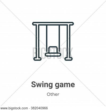 Swing game icon isolated on white background from other collection. Swing game icon trendy and moder