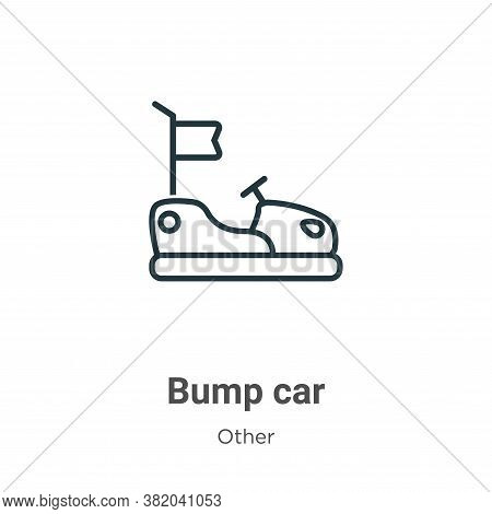 Bump car icon isolated on white background from other collection. Bump car icon trendy and modern Bu