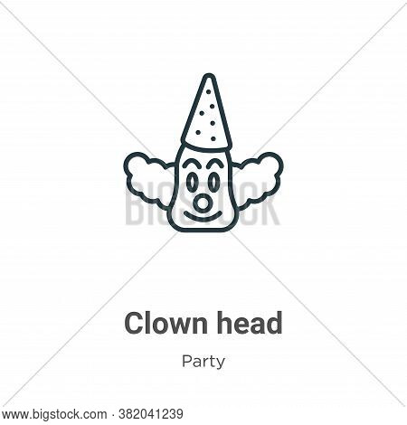 Clown head icon isolated on white background from party collection. Clown head icon trendy and moder