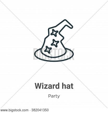 Wizard hat icon isolated on white background from party collection. Wizard hat icon trendy and moder