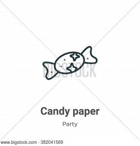 Candy paper icon isolated on white background from party collection. Candy paper icon trendy and mod