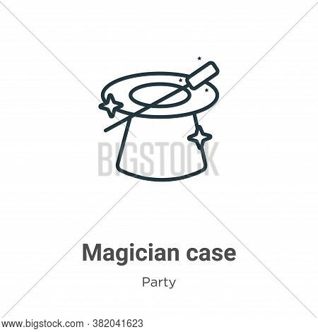 Magician case icon isolated on white background from party collection. Magician case icon trendy and