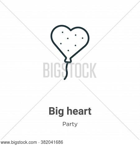 Big heart icon isolated on white background from party collection. Big heart icon trendy and modern