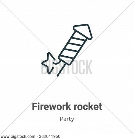 Firework rocket icon isolated on white background from party collection. Firework rocket icon trendy