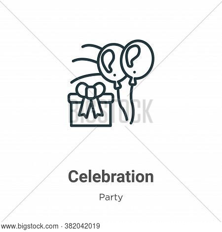 Celebration icon isolated on white background from party collection. Celebration icon trendy and mod