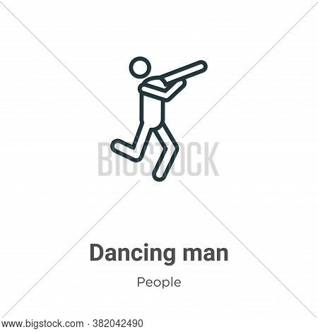 Dancing man icon isolated on white background from people collection. Dancing man icon trendy and mo