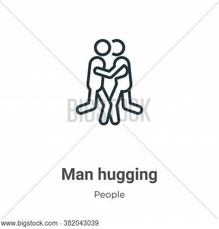 Man hugging icon isolated on white background from people collection. Man hugging icon trendy and mo