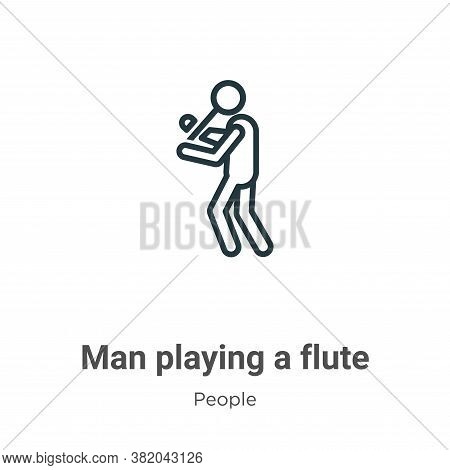 Man Playing A Flute Icon From People Collection Isolated On White Background.