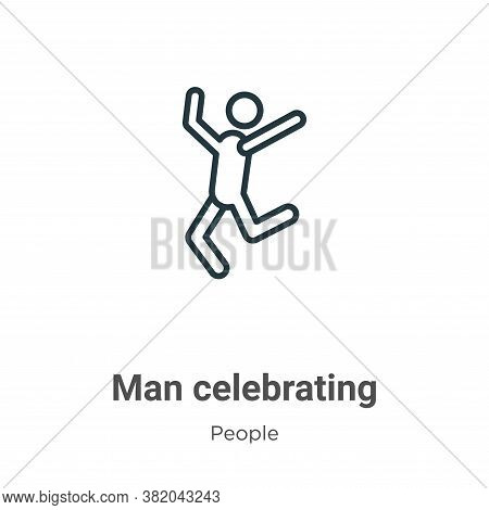 Man celebrating icon isolated on white background from people collection. Man celebrating icon trend