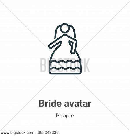 Bride avatar icon isolated on white background from people collection. Bride avatar icon trendy and