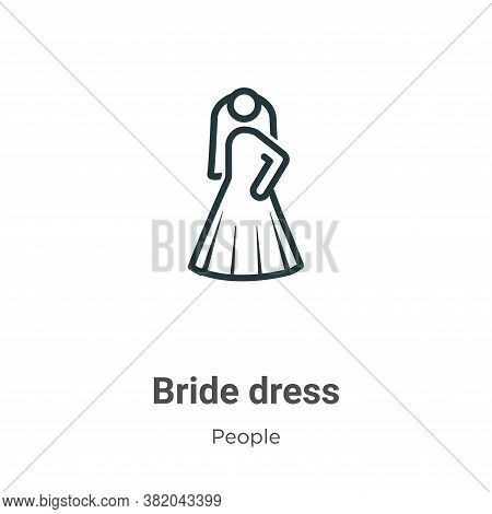 Bride dress icon isolated on white background from people collection. Bride dress icon trendy and mo