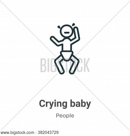 Crying baby icon isolated on white background from people collection. Crying baby icon trendy and mo