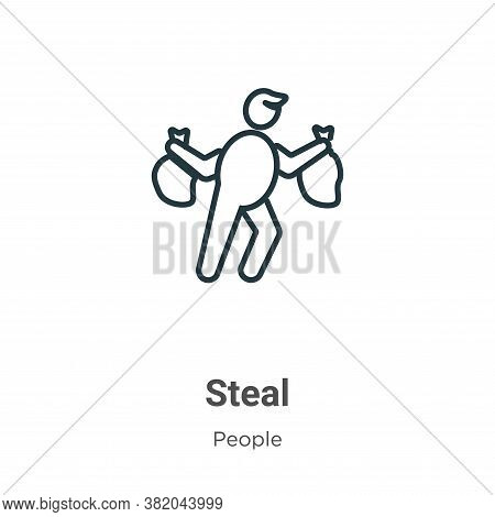 Steal icon isolated on white background from people collection. Steal icon trendy and modern Steal s