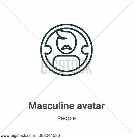Masculine avatar icon isolated on white background from people collection. Masculine avatar icon tre