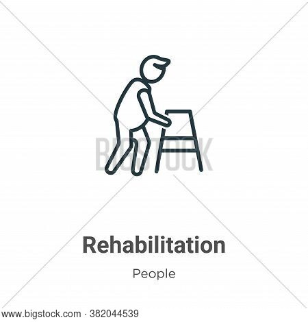 Rehabilitation icon isolated on white background from people collection. Rehabilitation icon trendy