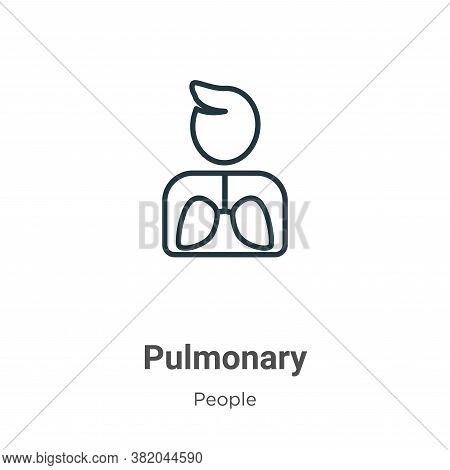 Pulmonary icon isolated on white background from people collection. Pulmonary icon trendy and modern