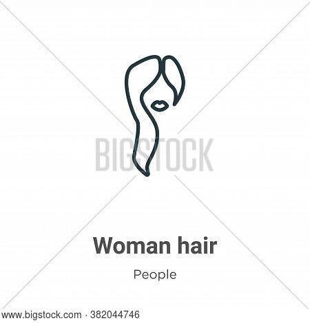 Woman hair icon isolated on white background from people collection. Woman hair icon trendy and mode