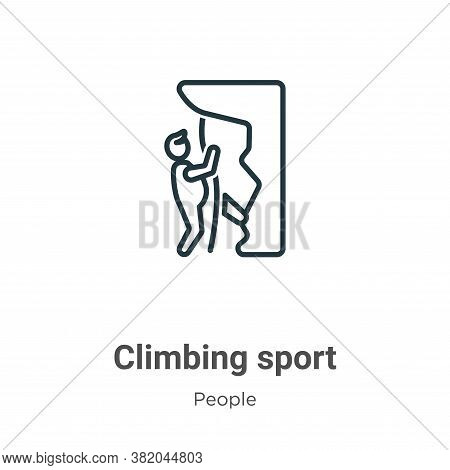 Climbing sport icon isolated on white background from people collection. Climbing sport icon trendy