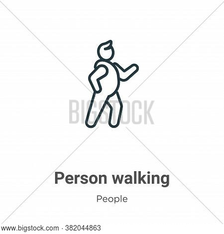 Person walking icon isolated on white background from people collection. Person walking icon trendy