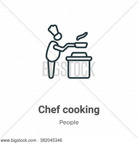 Chef cooking icon isolated on white background from people collection. Chef cooking icon trendy and