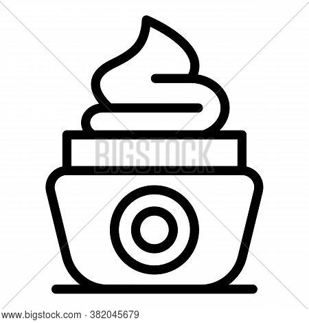 Wrinkles Face Cream Jar Icon. Outline Wrinkles Face Cream Jar Vector Icon For Web Design Isolated On