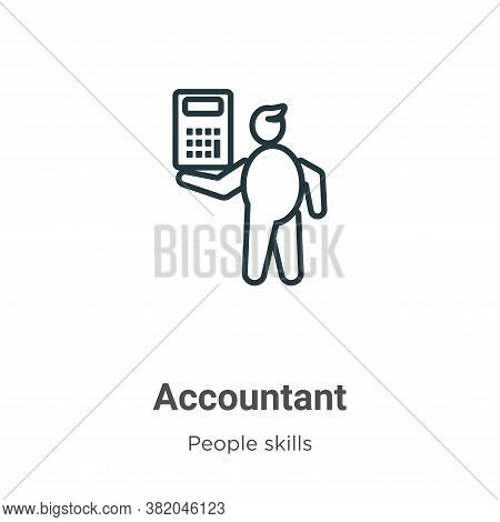 Accountant icon isolated on white background from people skills collection. Accountant icon trendy a