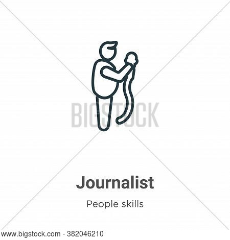 Journalist Icon From People Skills Collection Isolated On White Background.