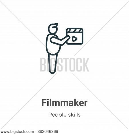 Filmmaker icon isolated on white background from people skills collection. Filmmaker icon trendy and