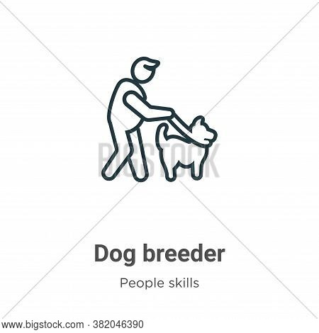 Dog breeder icon isolated on white background from people skills collection. Dog breeder icon trendy