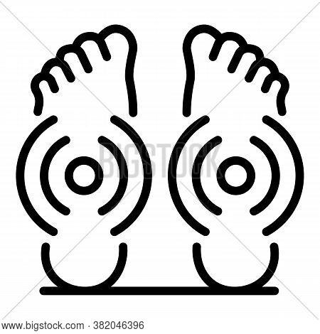 Foot Massage Self Care Icon. Outline Foot Massage Self Care Vector Icon For Web Design Isolated On W