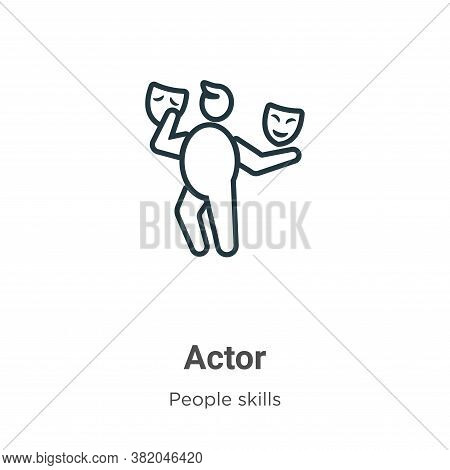 Actor icon isolated on white background from people skills collection. Actor icon trendy and modern