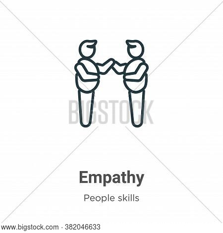 Empathy icon isolated on white background from people skills collection. Empathy icon trendy and mod