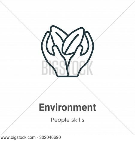 Environment icon isolated on white background from people skills collection. Environment icon trendy