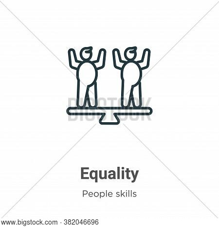 Equality icon isolated on white background from people skills collection. Equality icon trendy and m