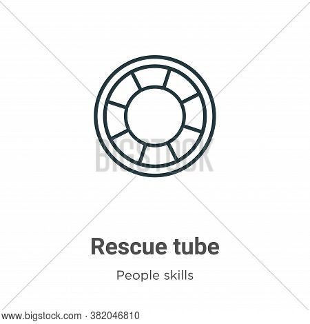 Rescue tube icon isolated on white background from people skills collection. Rescue tube icon trendy