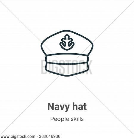 Navy hat icon isolated on white background from people skills collection. Navy hat icon trendy and m