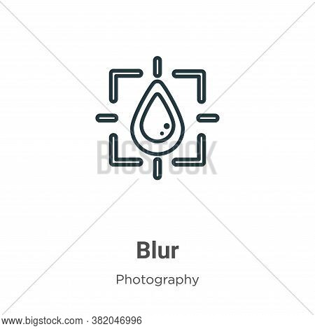 Blur icon isolated on white background from photography collection. Blur icon trendy and modern Blur