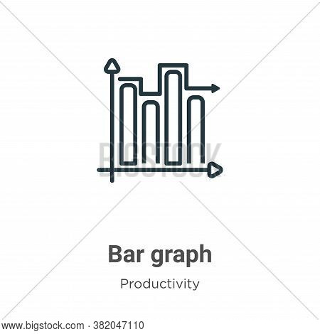 Bar graph icon isolated on white background from productivity collection. Bar graph icon trendy and